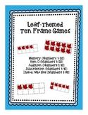 Ten Frame Games: Leaf-Themed