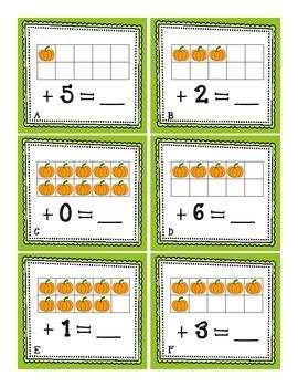 Ten Frame Games: Pumpkin-Themed