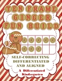 Ten Frame Ginger Fun Build-Differentiated, Aligned and Sel