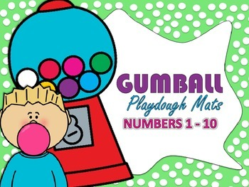 Ten Frame Gumball Playdough Mats (Numbers 1 -10)