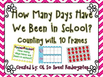 """Ten Frame """"How Many Days"""""""