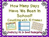 "Ten Frame ""How Many Days"" Polka Dots"
