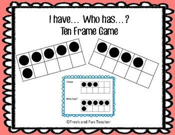 I Have Who Has Game {Ten Frames}
