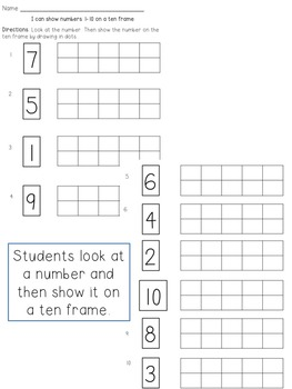Ten Frame Identification