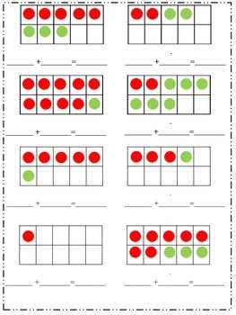 Morning Work Math: Ten Frame (Introduction and Addition)