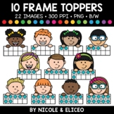 Ten Frame Kid Toppers Clipart