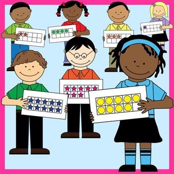 Ten Frame Kids Clip Art