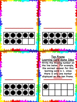 Ten Frame Learning Cards and Posters Pack