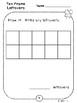 Ten Frame Leftover Place Value Pages (Kindergarten-K.NBT.1)