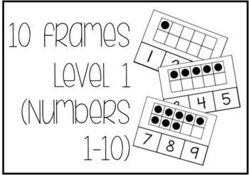 Ten Frame Level 1 Task Box FREEBIE