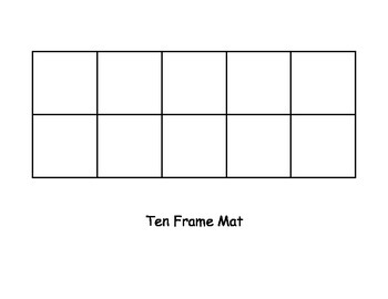 Ten Frame Mat