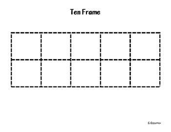 Ten Frame Mat-bilingual