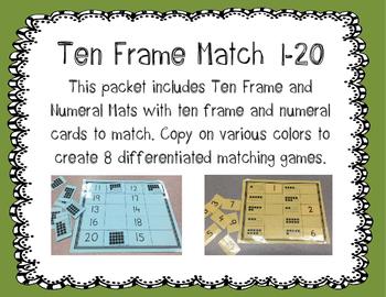 Ten Frame Match 1-20
