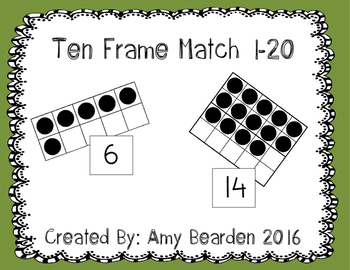 Ten Frame Match 1-20