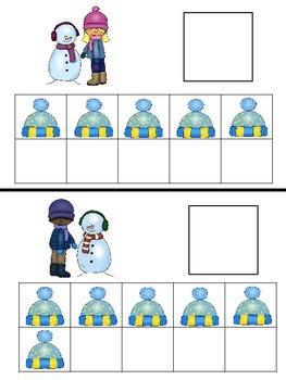 Ten Frame Match 1 - 20 Winter Theme