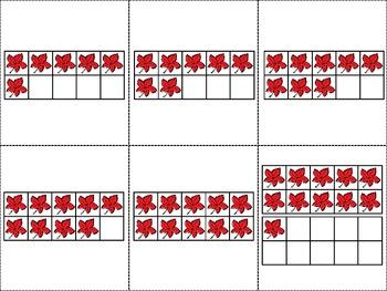 Ten Frame Match *Autumn* {September} - Flash Cards - Common Core Math - Fall
