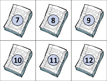 Ten Frame Match *Back to School* {August} - Flash cards - Common Core Math