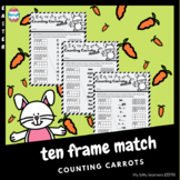 Ten Frame Match: Counting Carrots