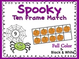 Ten Frame Match *Spooky* {October} - Flash Cards - Common Core Math - Halloween