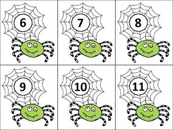 Ten Frame Match *Spooky* {October} - Flash Cards - Common Core Math - Halloween