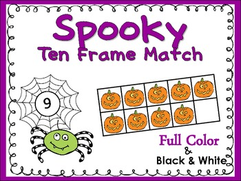 Ten Frame Match *Spooky* {October} - Flash Cards - Common