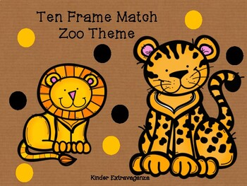 Ten Frame Match Zoo Theme