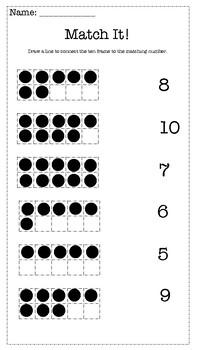 Ten Frame Matching