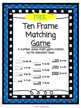 FREE Ten Frame Matching Game