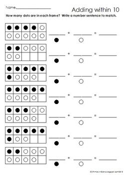 Ten Frame Math #2