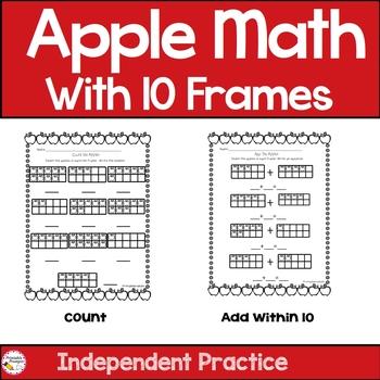 Ten Frame Math- Apples