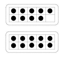 Ten Frame Math Flashcards