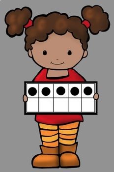 Ten Frame Math Kids Clip Art