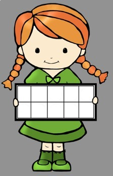 Ten Frame Math Kids Clip Art