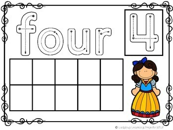 Ten Frame Math Mats (Featuring Fairy Tale Friends and Super Heroes)