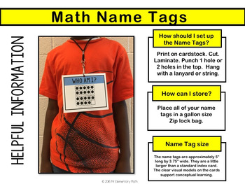 Ten Frame Math Name Tags - Numbers 0 - 50