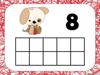 Ten Frame Mats and Ten Frame Flash Cards -Back To School Theme