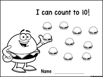Free Ten Frame Mats -Hamburger