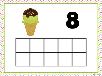 Ten Frame Mats -Ice Cream