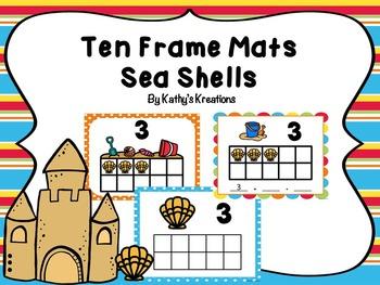 Ten Frame Mats -Sea Shells
