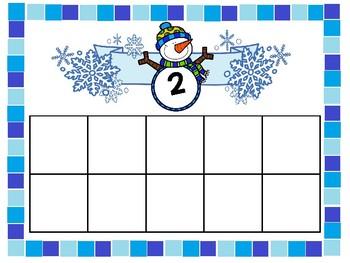 Ten Frame Mats: Winter Edition Numbers 1-20