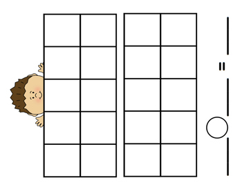 Ten Frame Mats with Addition and Subtraction Workspace
