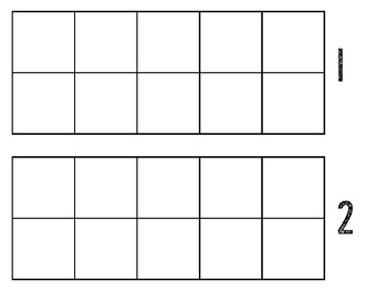 Ten Frame Mats with Numbers