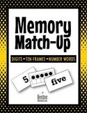 Memory Match-Up / Digits 1-10, Ten Frames, Number Words *3 Easy-Prep Sets*
