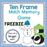Ten Frame Memory Game- FREE
