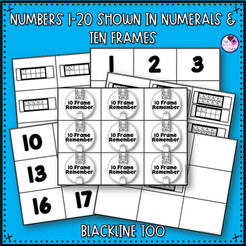 Ten Frame Memory Numbers 1-20