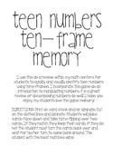 Ten-Frame Memory: Teen Numbers
