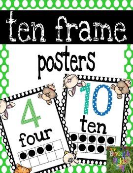 Ten Frame Mini Posters- Pets