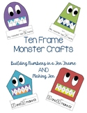 Ten Frame Monster Crafts - Making Ten  and Building Number