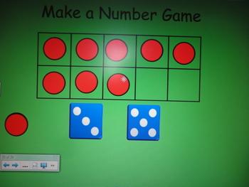 Ten Frame Number Activities for the SMART board