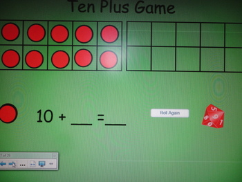 Ten Frame Number Activities for the SMART board